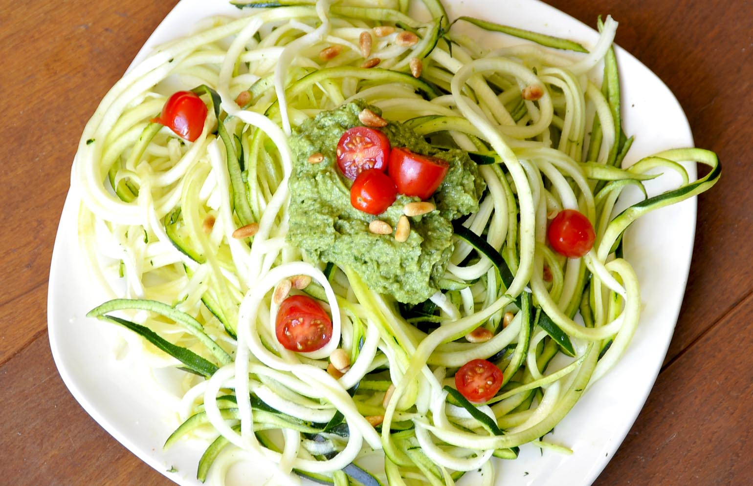 Courgetti met pesto