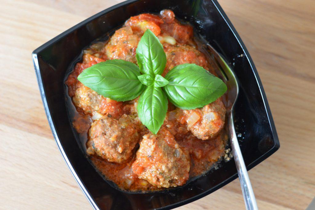 Italiaanse gehaktballen in tomatensaus