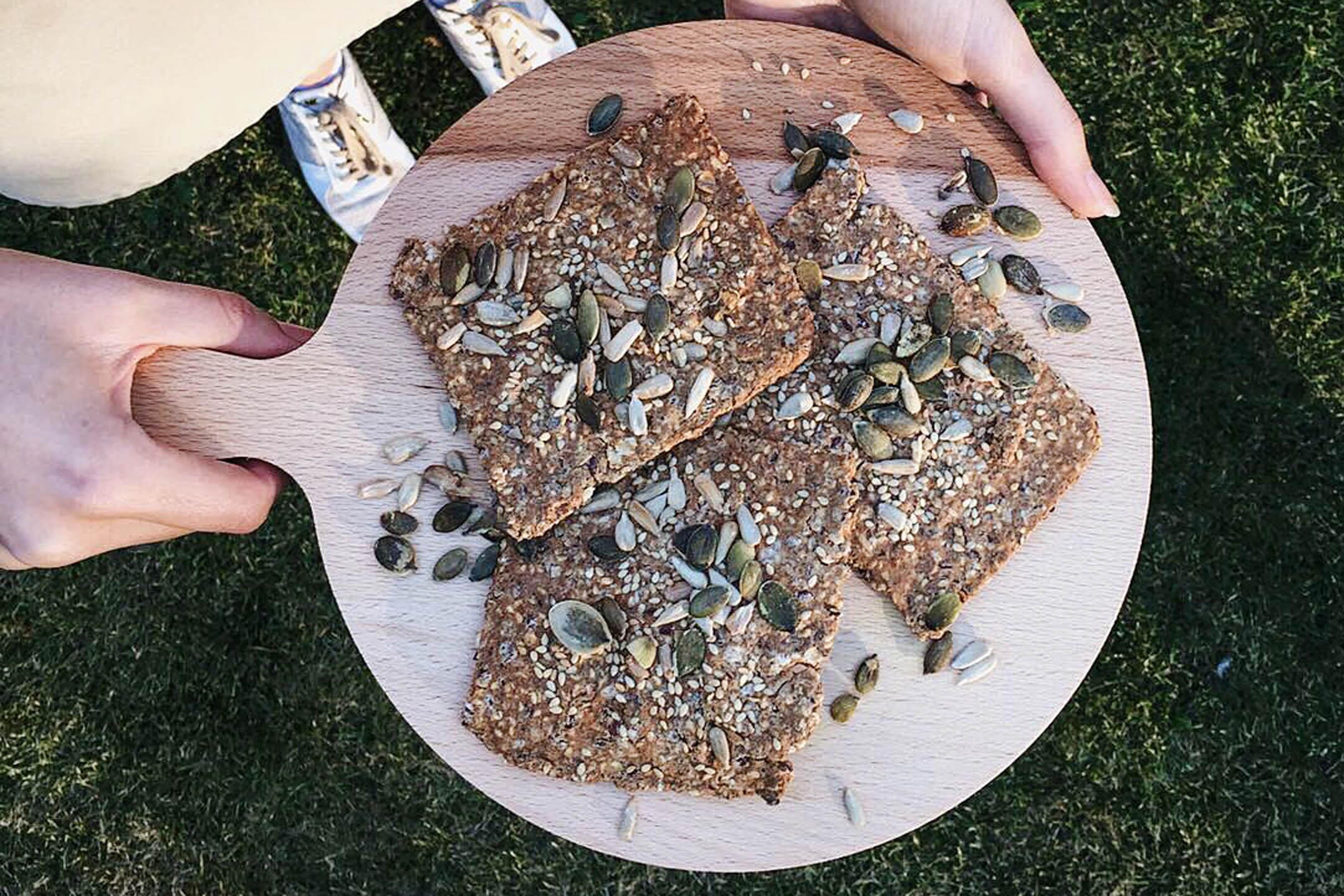 gezonde crackers maken