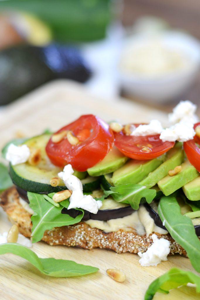 spelt sandwich met gegrilde groenten
