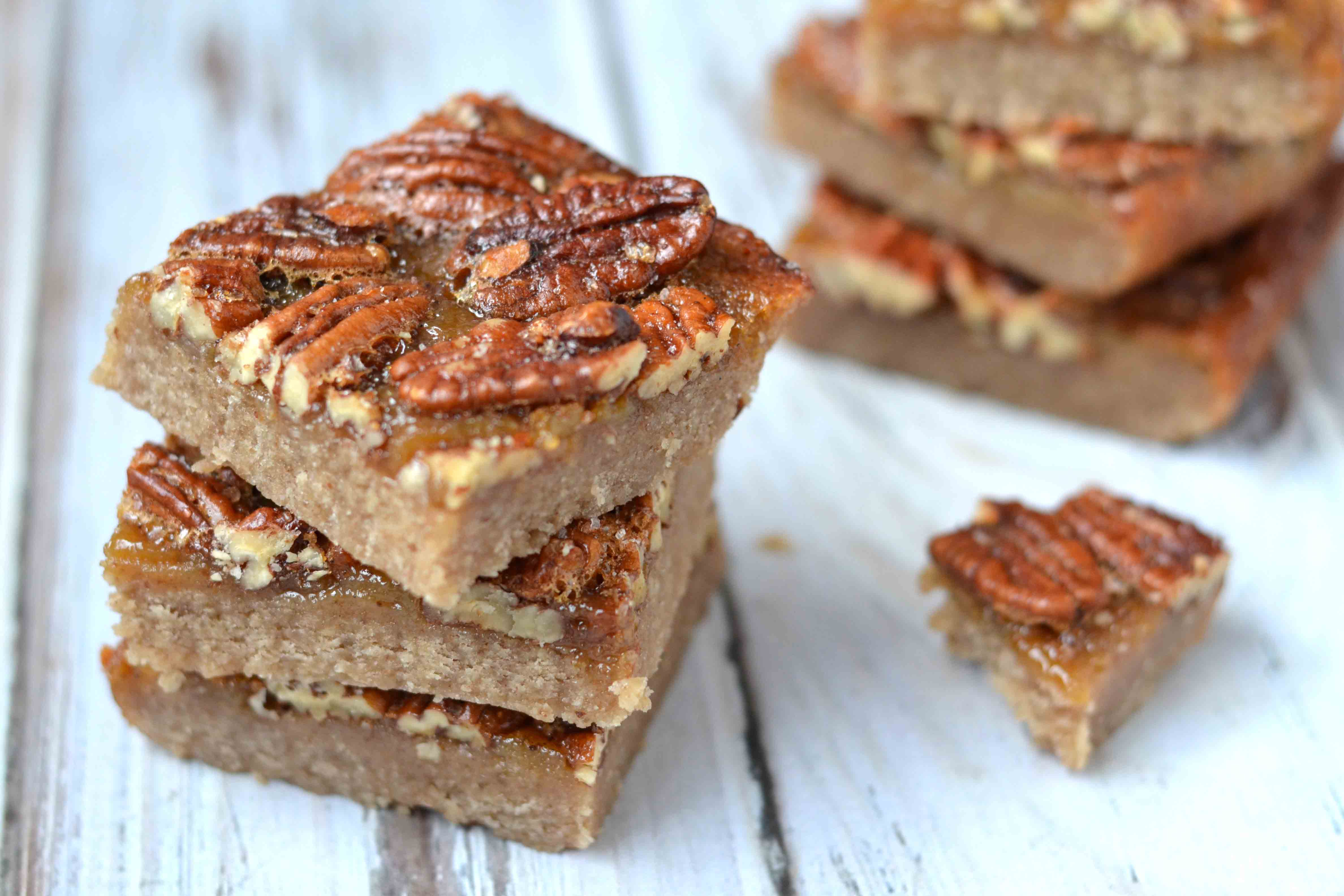 Salted maple pecan bars