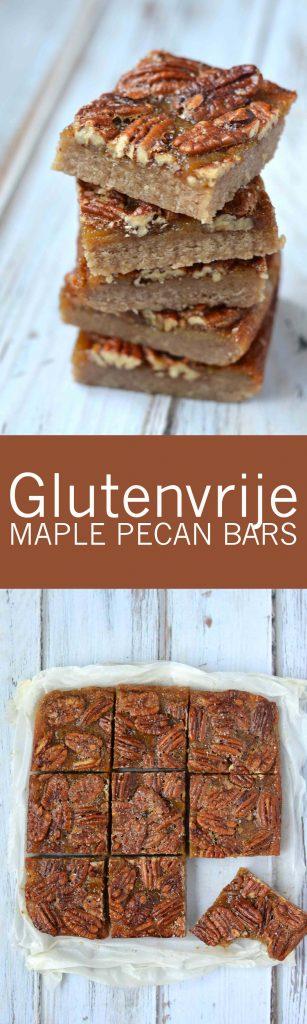 Goddelijke salted maple pecan bars!