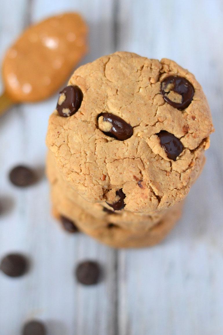 eiwitrijke vegan pindakaas koekjes