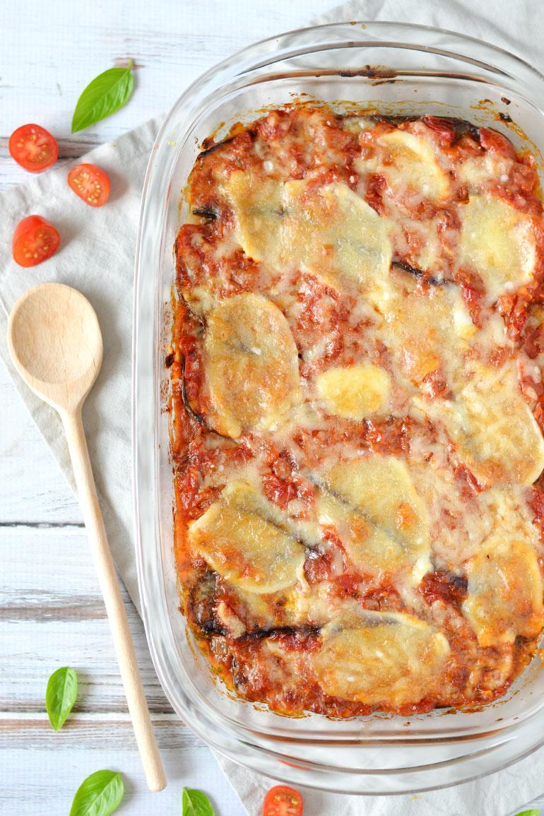 Aubergine lasagne recept Parmigiana di melanzane