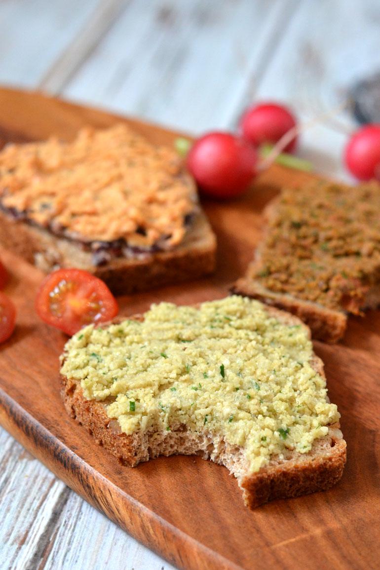 3x eiwitrijk vegan hartig broodbeleg