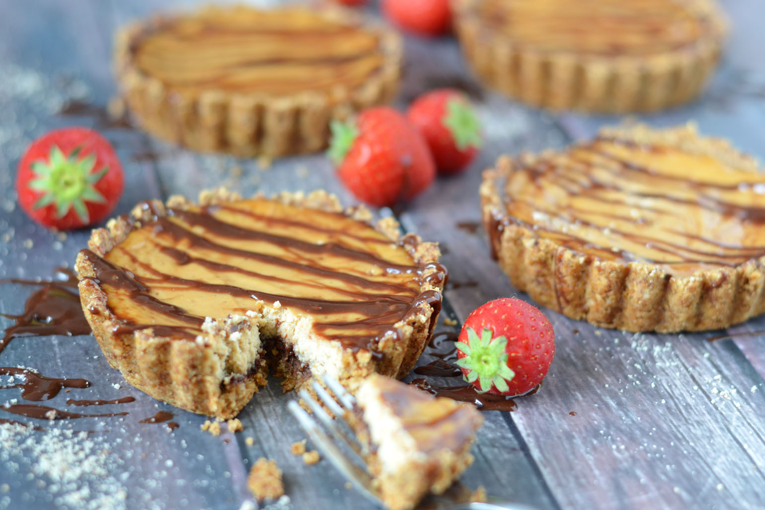 Gezondere mini cheesecake met nutella en ricotta