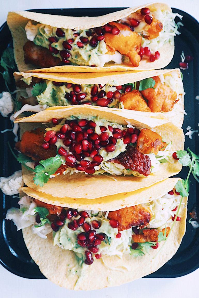 Taco's met vis limoen avocado