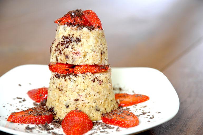 Aardbeien mug cake