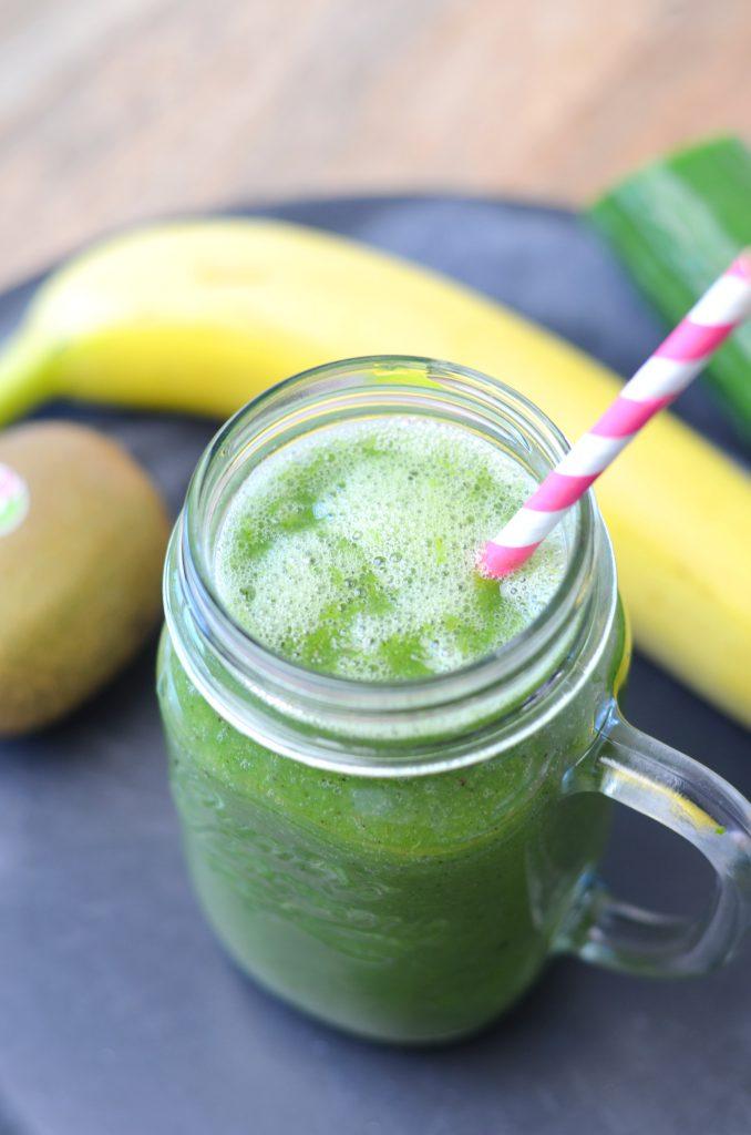 groente smoothie met boerenkool en banaan