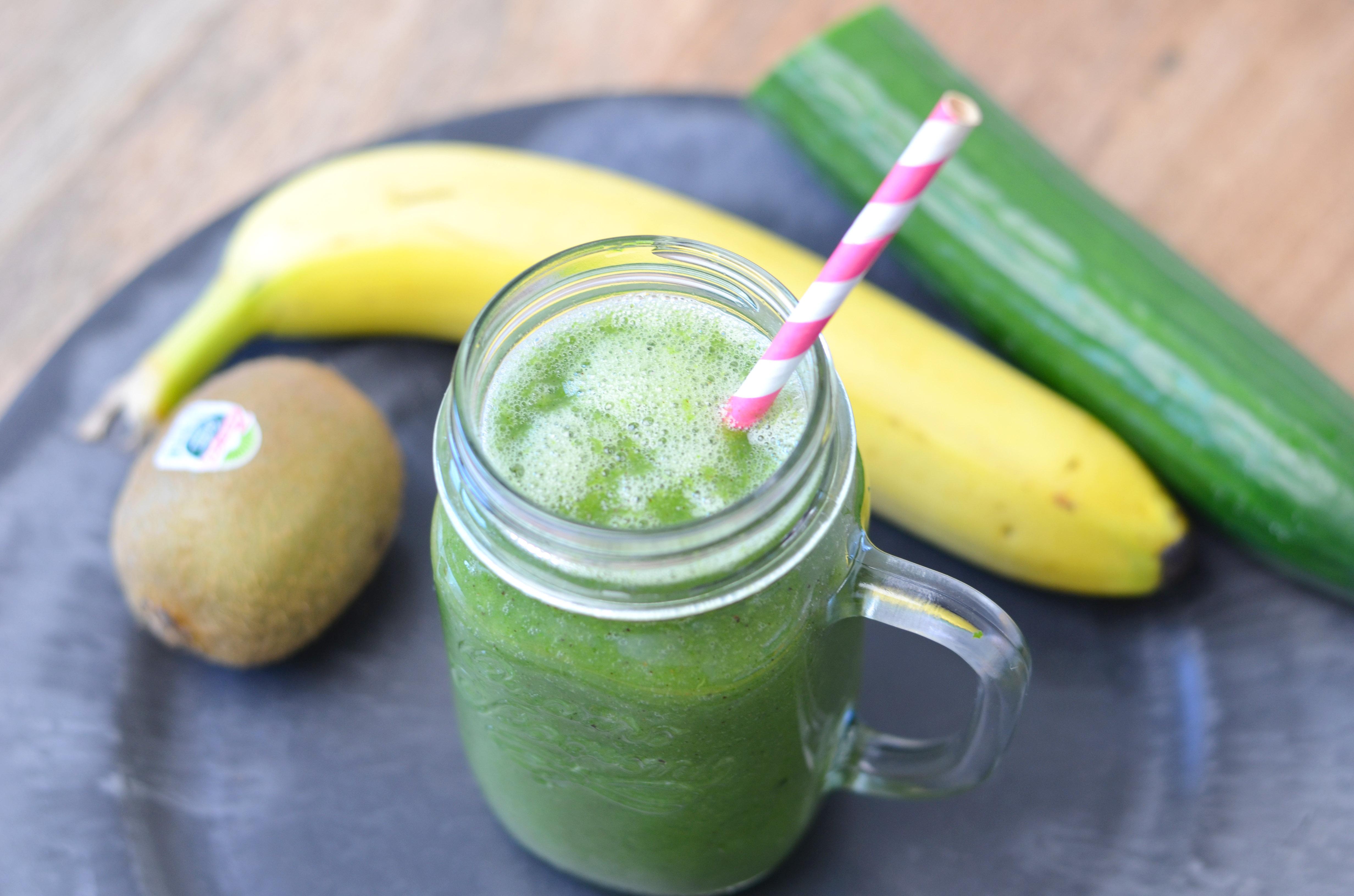 groene smoothie boerenkool en banaan