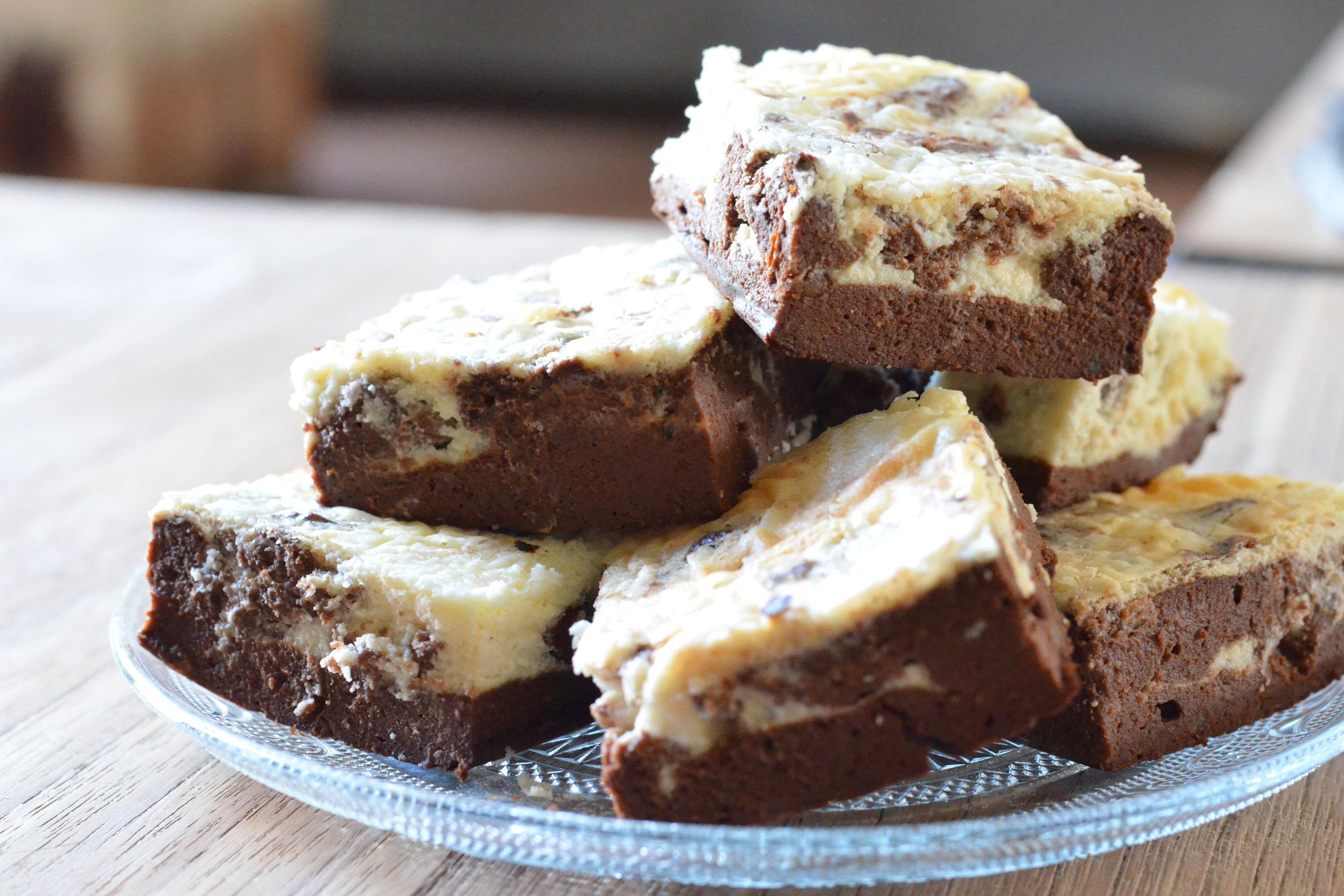 gezonde cheesecake brownie
