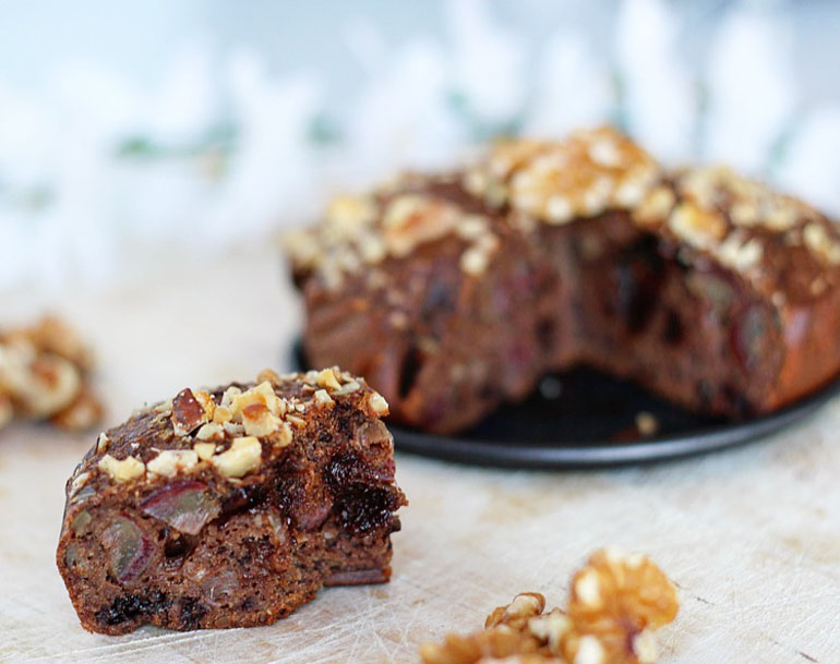 chocolade bananenbrood met pure chocolade
