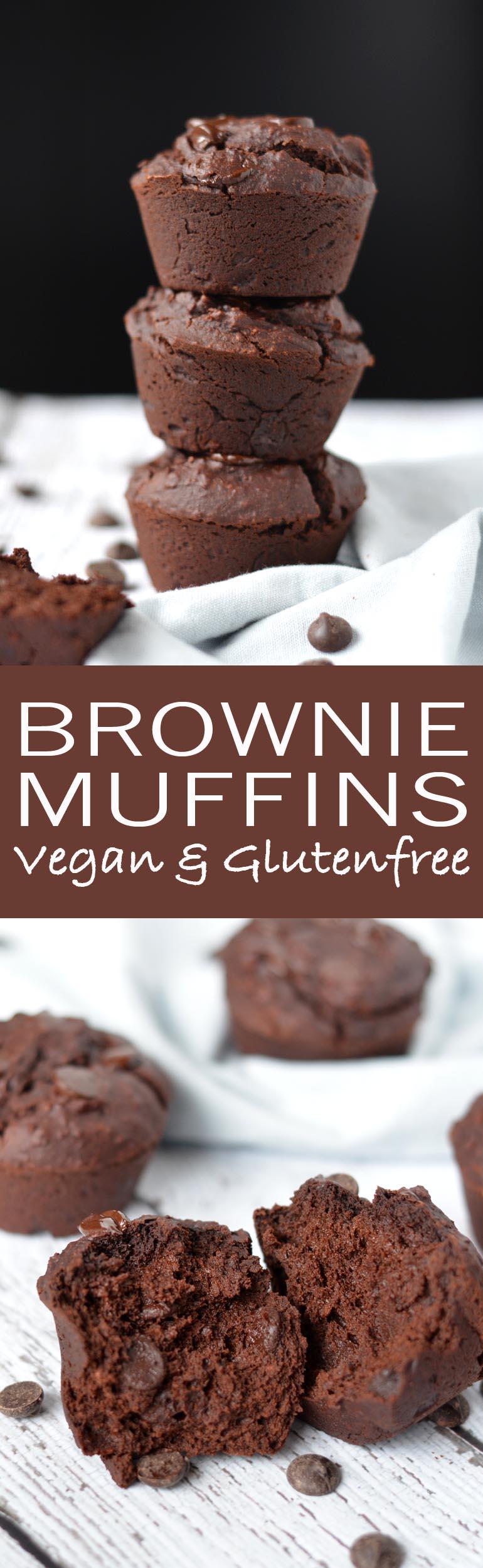 Dit chocolade brownie muffin recept is om je vingers bij af te likken! Echt waar! En helemaal vegan én glutenvrij :)