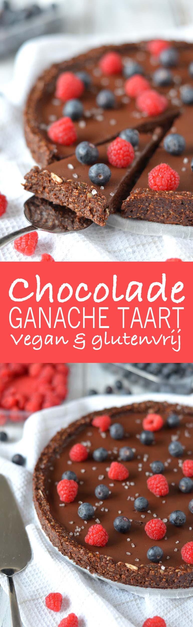 vegan chocolade ganache taart