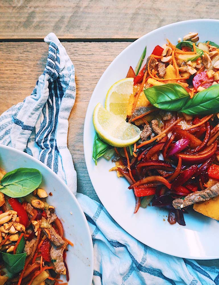 Thai Beef Salad Recept met Mango