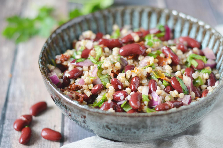 Italiaanse koude bonen salade
