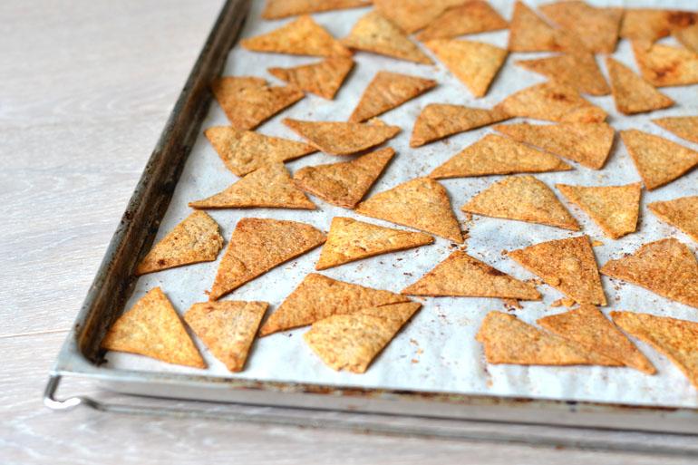 gezonde tortillachips maken