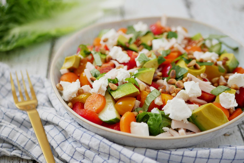 Gezonde salade kip